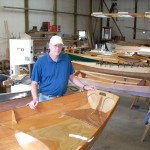 Boat Builder Richard Lincoln with Passagemaker Dinghy