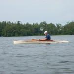 Richard Lincoln paddling Millcreek 13