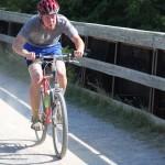 cody in bike portion of race.