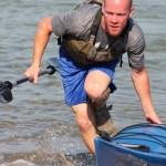 Cody - exiting kayak