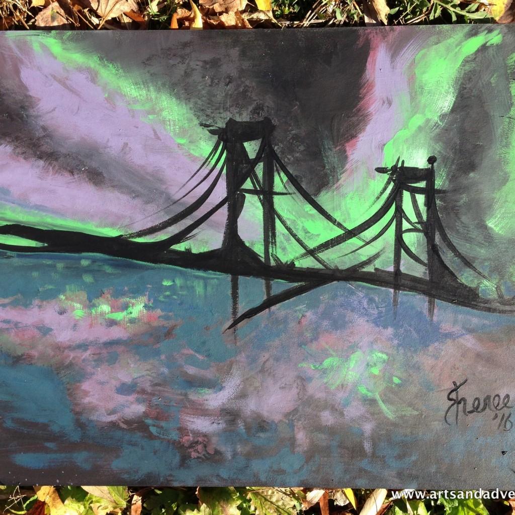 paint and sip - mackinaw bridge - image