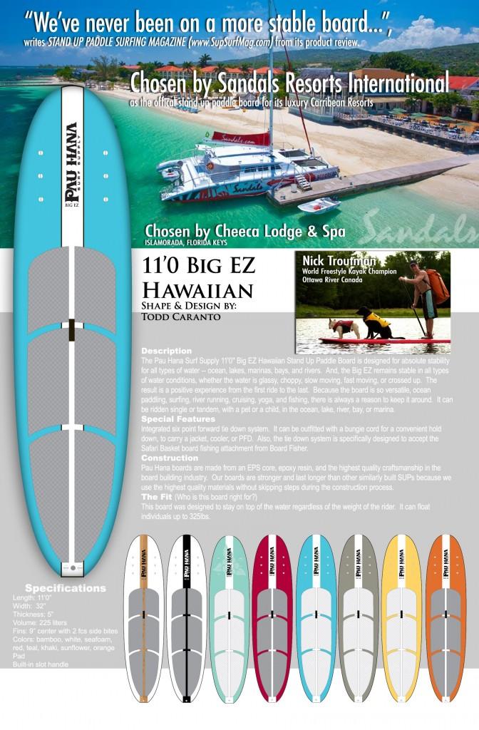 pau hana advertisement for paddleboards - image