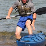 Dakota Nicholas Getting out of Kayak