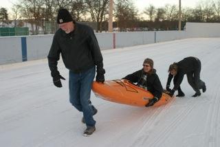 Kayaks On Ice Derby