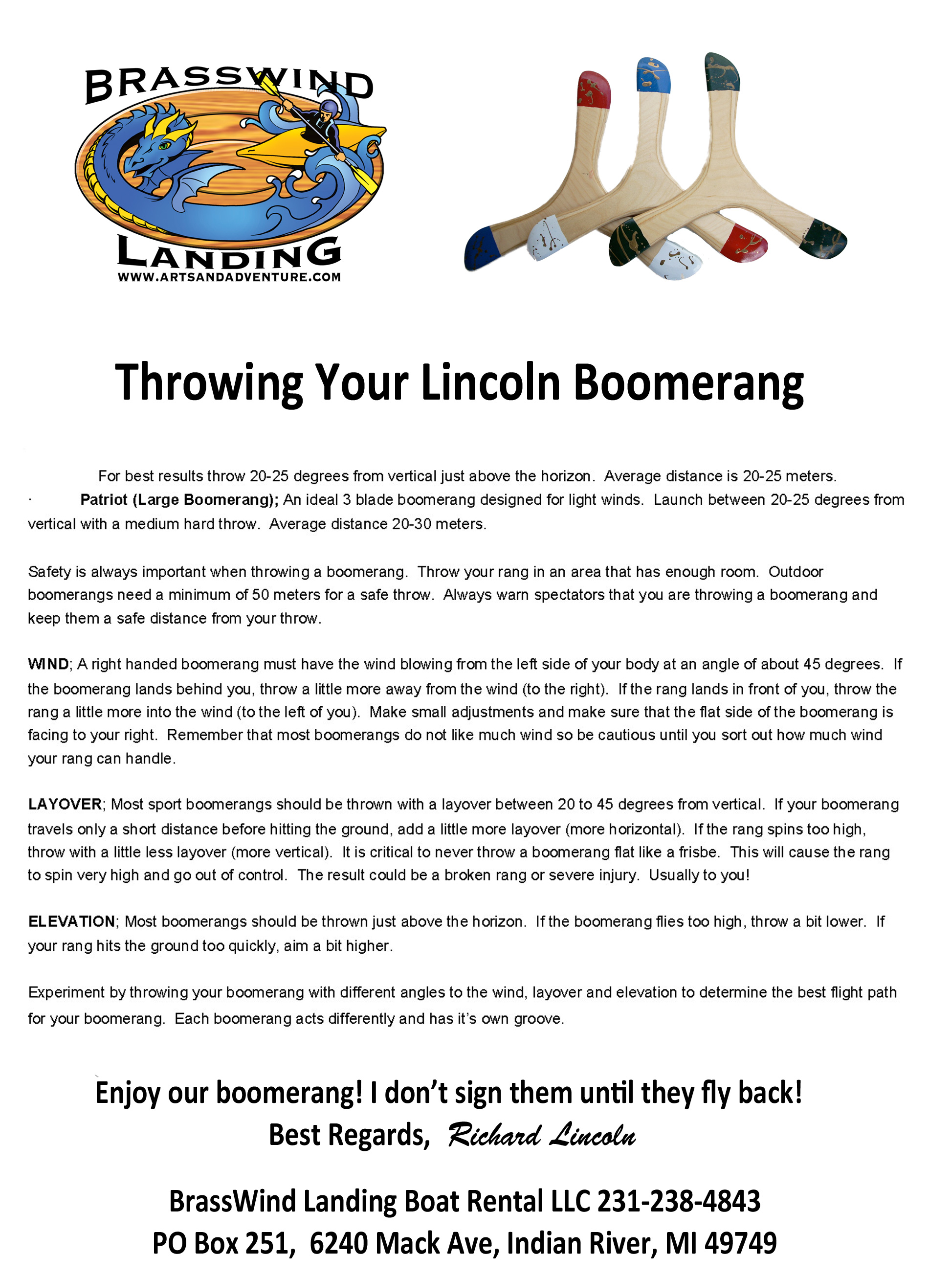 throwing your boomerang flyer - image